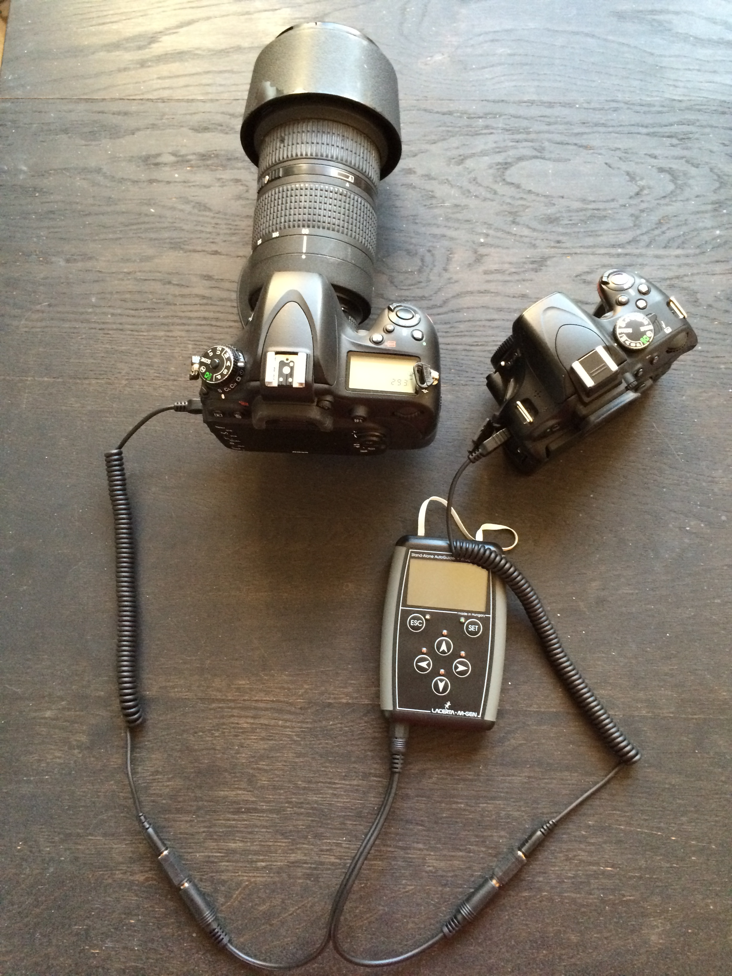 Controlling two camera's with the Lacerta MGEN