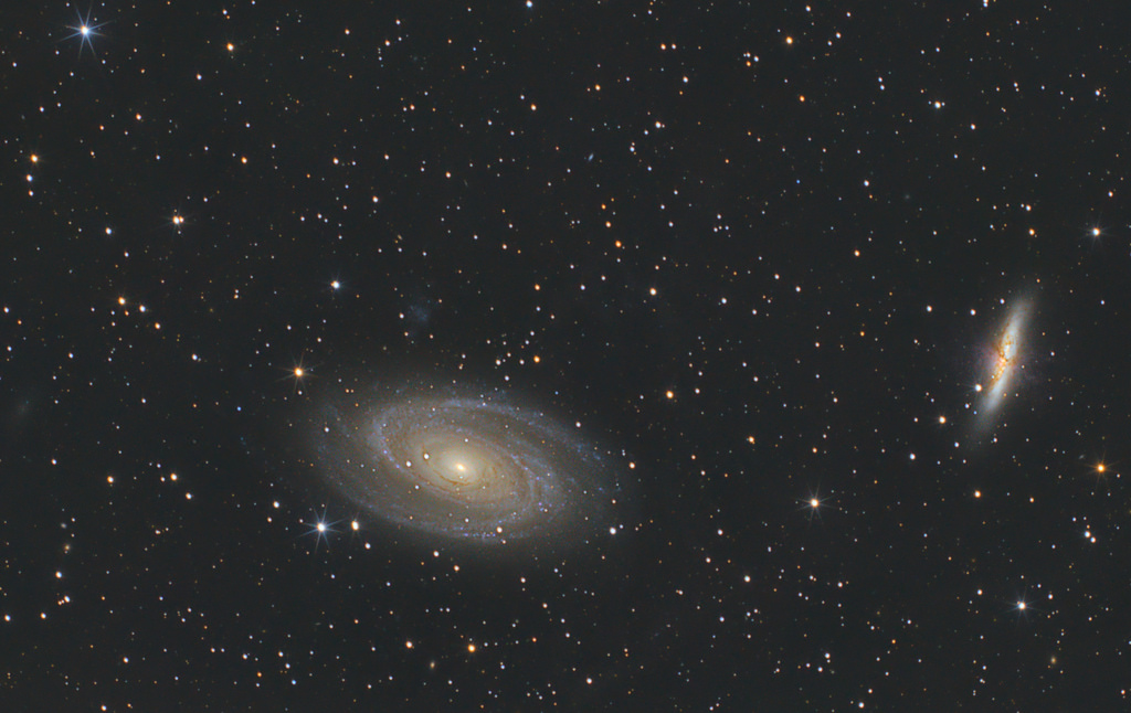 M81 and M82 with a dslr – trying to capture integrated flux nebula