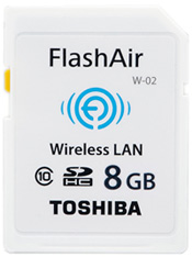 Wifi SD card for timelapses: Toshiba FlashAir SDHC card review