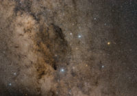 Southern Cross and Coalsack nebula