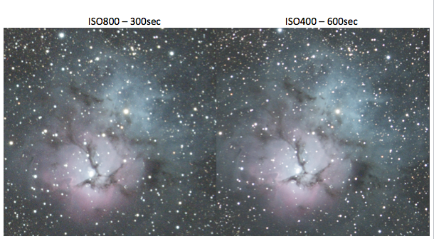 ISO 800 vs ISO 400 for astrophotography