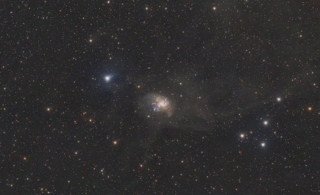 NGC 1313 with stars protected in processing